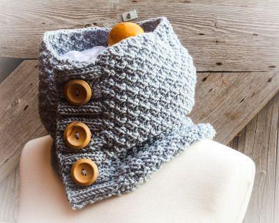 Chunky Button Cowl   Knitting   Pinterest