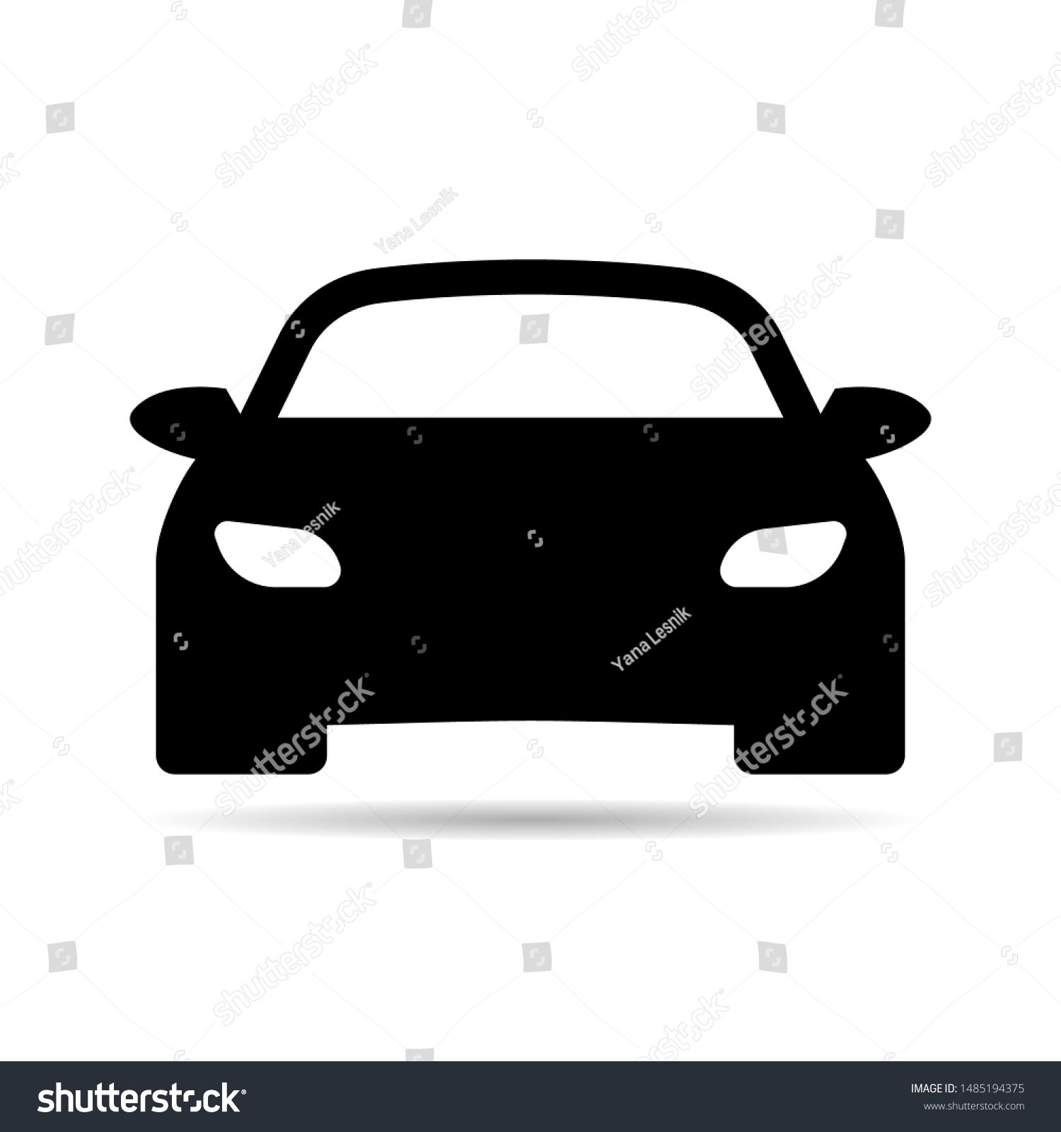 Plain Car Silhouette Icon Driving Logo Vector Image Of Vehicle Front View Of Transport Sponsored Sponsored Icon Dri Car Silhouette Poster Mockup Icon