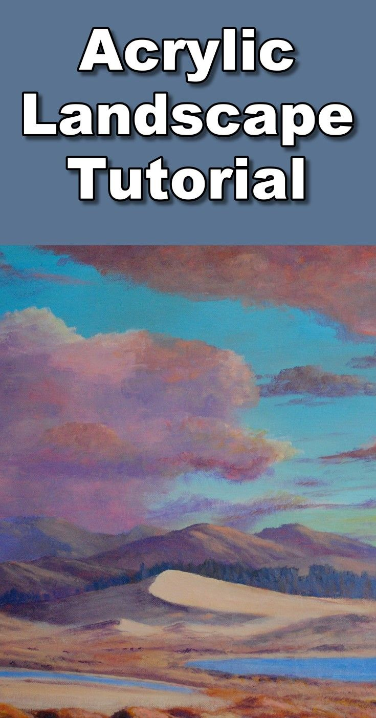 Learn How To Paint An Acrylic Sunset Landscape In This Free Online