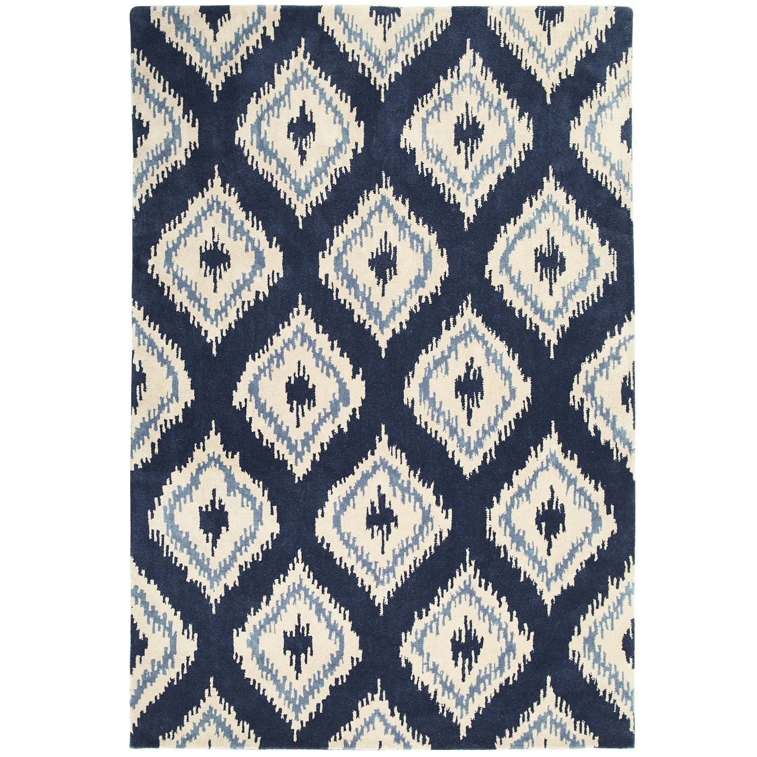 ikat diamond rugs - navy | pier 1 imports | home - rugs