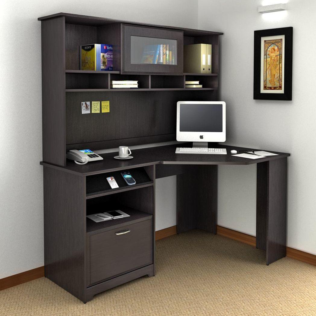 Hillsdale corner computer desk with hutch shreya in 2019 - Small corner desk with storage ...
