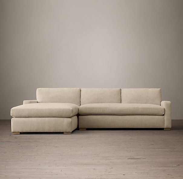 Petite Maxwell Upholstered Left-Arm Chaise Sectional