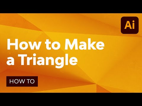 How To Make A Triangle In Illustrator Youtube Illustration Triangle How To Make