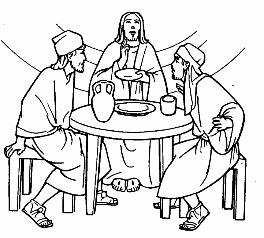 Mark 1612 13 Luke 2413 35 The Emmas Disciples Road To Emmaus Coloring Page