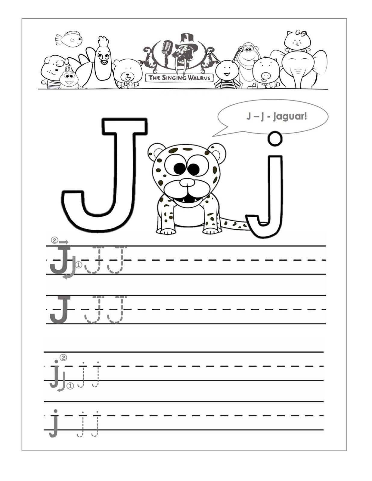 J Worksheets For Preschool