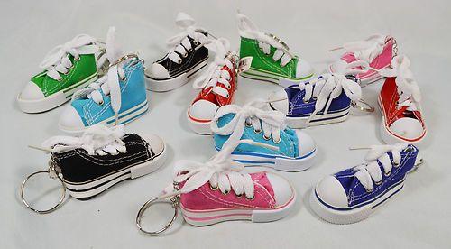 1f96116b57b2 Lot of 12 Canvas Sneaker Tennis Shoe Chucks Keychain Party Favors  12.99