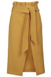 Paperbag Midi Skirt at Top Shop