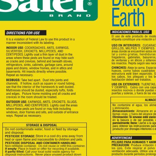 Safer Brand 51702 Diatomaceous Earth Bed Bug Ant And Crawling Insect 4 Pound Bag