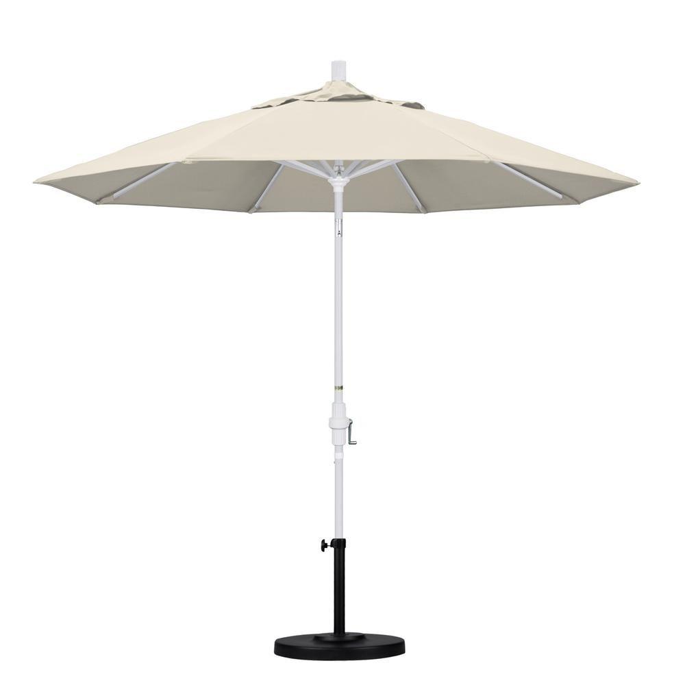 California Umbrella 9 Ft Aluminum Collar Tilt Patio Umbrella In