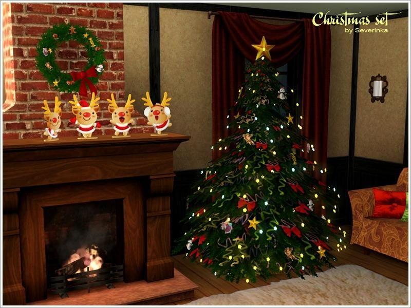 Sims 3 Christmas Tree.Severinka S Christmas Set Sims 3 Custom Content