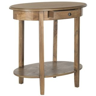 shop for safavieh monica oak oval end table and more for everyday discount prices at overstock