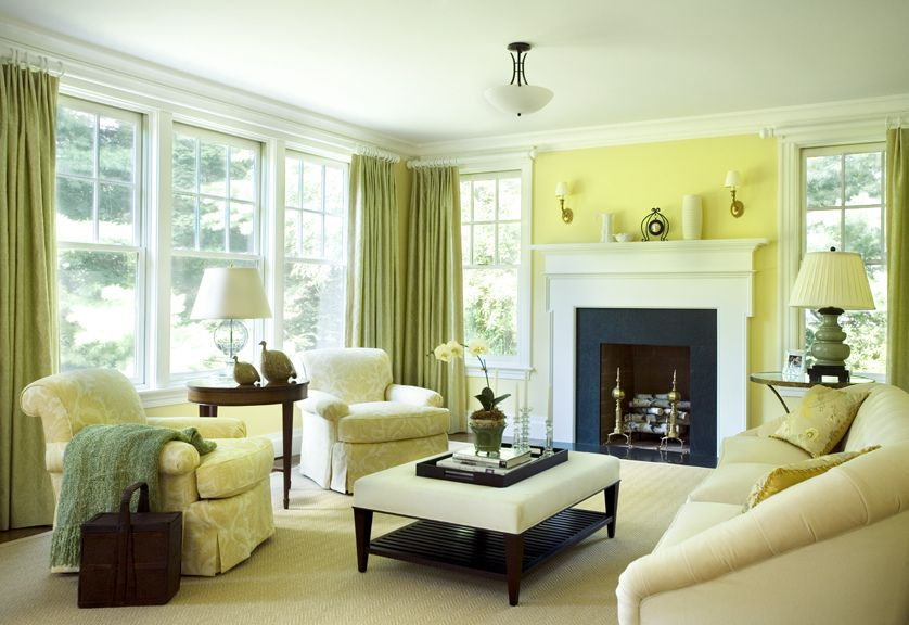 3 Gorgeously Green Rooms Get The Look Living Rooms Green Rooms
