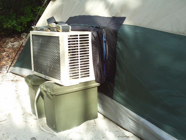 Air Conditoned Tent For Those Hot Months Campin
