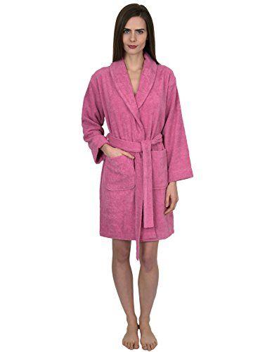 c8ca2b39a3 TowelSelections Womens Short Turkish Cotton Robe Terry Bathrobe X ...