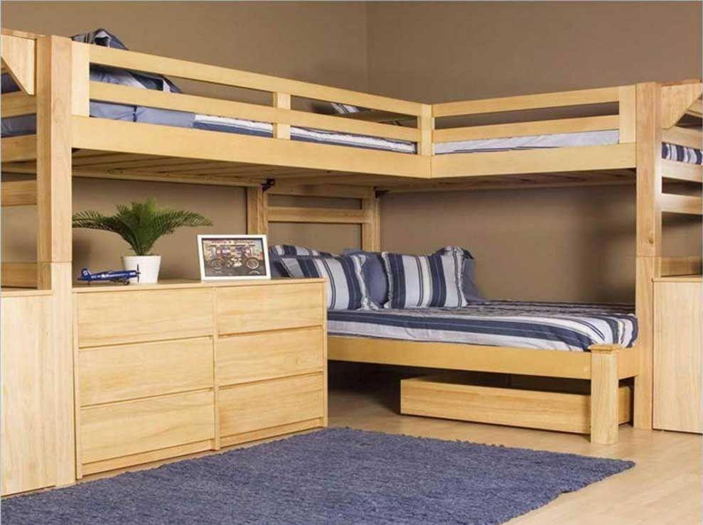 L Shaped Kids Bunk Loft Beds And Other Kids Bedroom