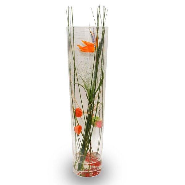 Bloemdecoratie in hoge vaas google zoeken bloemstuk in for Decoratie in vaas