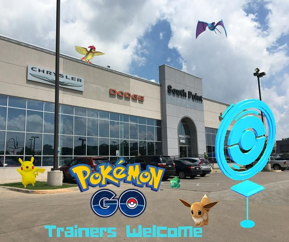 Let Us Know How Many Pokemon You Ve Caught Lurking Under Our Vehicles At South Point Dodge Chrysler Jeep Ram Gottacatch Chrysler Jeep Dodge Chrysler Pokemon