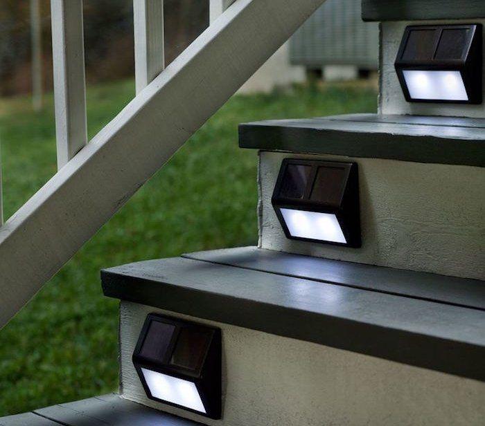 Spots Solaire Pour éclairage Exterieur De Marches Escalier Grandes Images