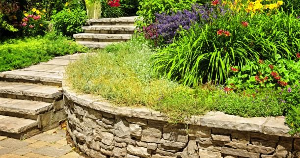 natural stone retaining wall | Yard | Pinterest | Retaining walls ...