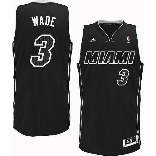 a0909dcd5f2d ... usa adidas nba miami heat 3 dwyane wade white on black fashion swingman  jersey d3286 7f7f3