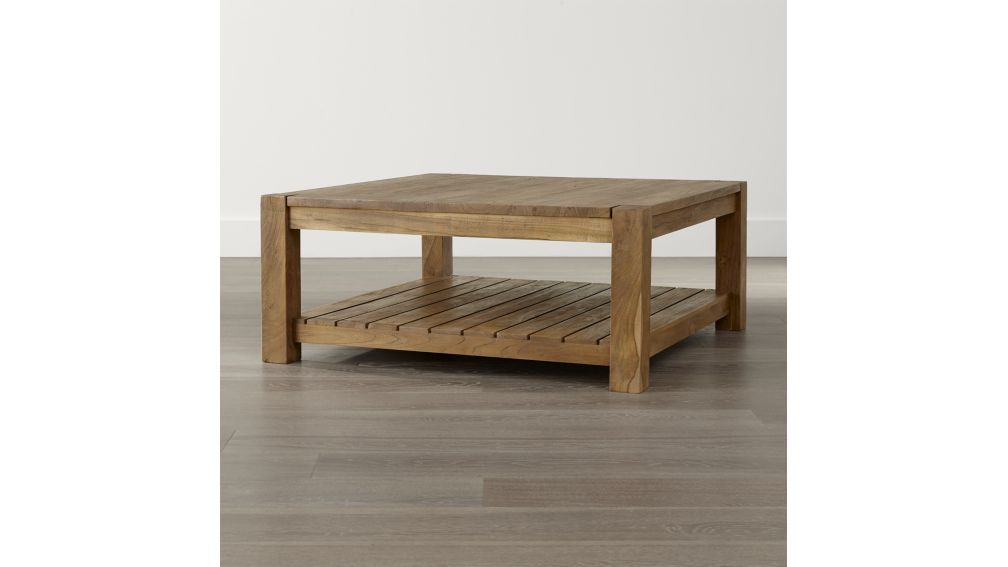 Edgewood Square Coffee Table Crate And Barrel 40 X 17 A Little Smaller Ideally 42