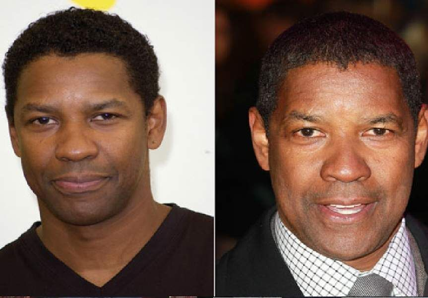 5 top After Before images of Denzel Washington when he is ...