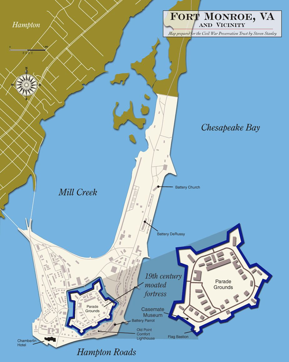 Fort Monroe Forts and Hampton roads