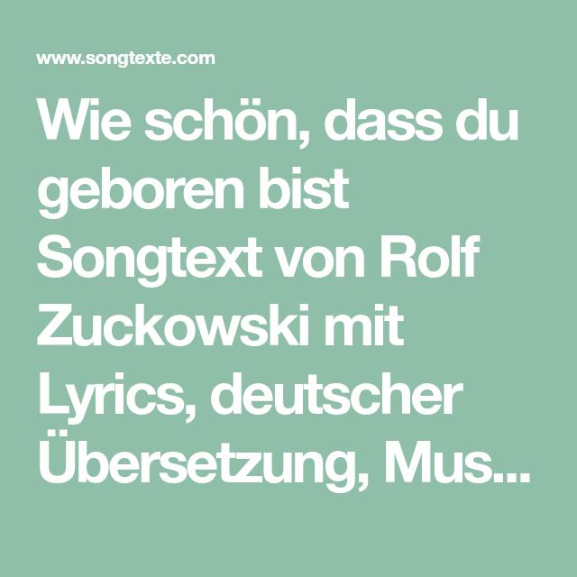 Rolf Zuckowski Weihnachtslieder Texte.Wie Schon Dass Du Geboren Bist Songtext Von Rolf Zuckowski