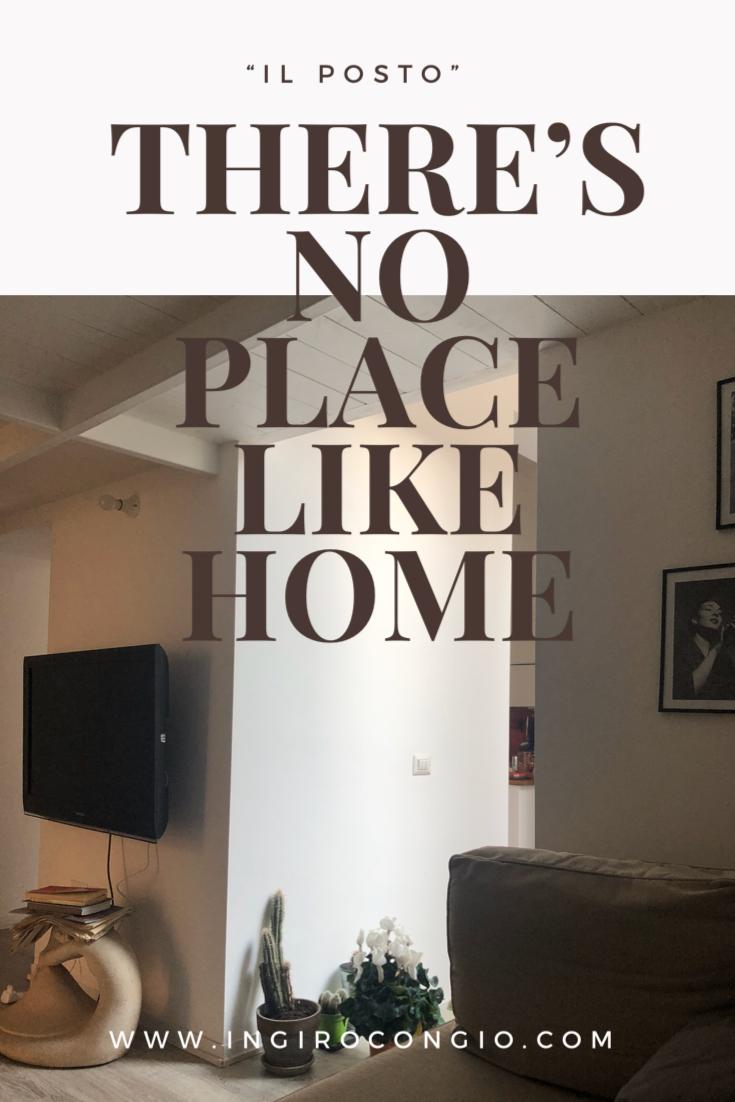 There's no place like home…/ Il Posto | In giro con Gio'