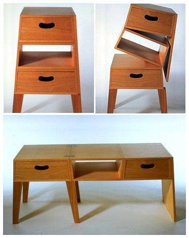 Good Clever And Versatile Furniture From Azumi! Great Piece To Have When You  Move A Lot   2 Ways To Use It Depending On The Space You Have! Pictures