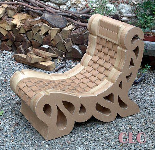 Fauteuil Au Carton Tressé Et Ajouré Paper And Cartonnage - Meuble fauteuil