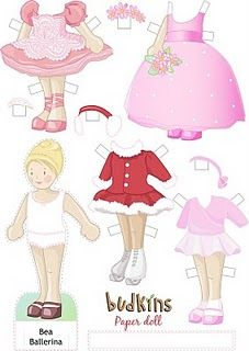 paper doll printable downloads by Danielle Hanson