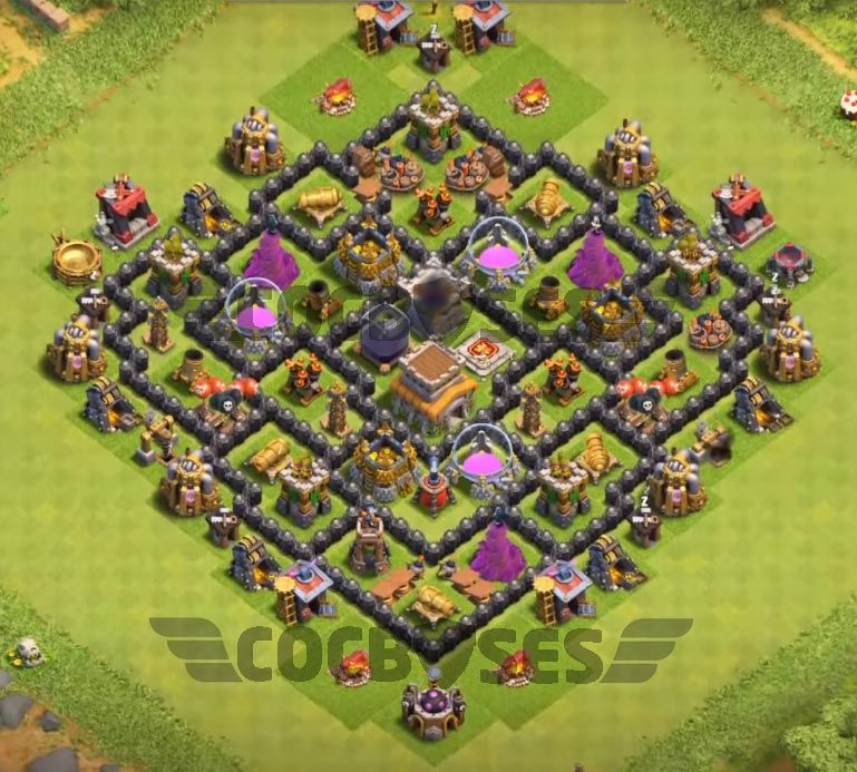 Best Base In Coc Th8