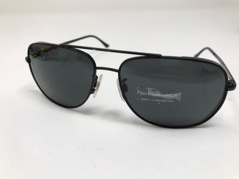 5f815dc50b Polo Ralph Lauren Sunglasses 3059 9038 87 Black Matte Grey Radiant 60mm  7086  fashion