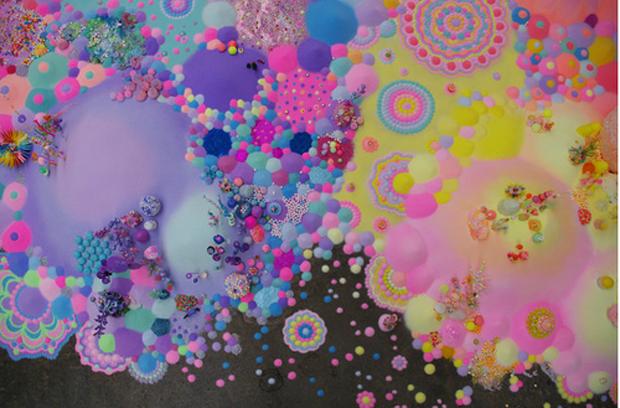 arte com glitter e açúcar