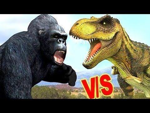 Animals Cartoon For Children | Gorilla Dinosaurs Rhymes | Animals Rhymes For Kids | Rhymes For Kids - YouTube