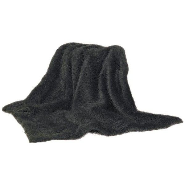 faux black mink throw 100 liked on polyvore featuring home bed u0026