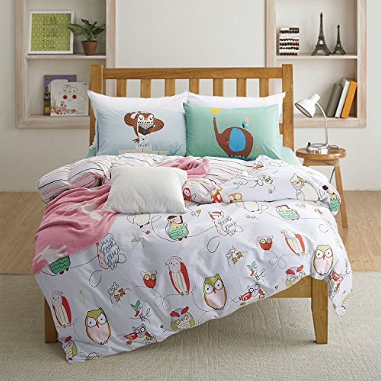 memorecool home textilecartoon owl family in classic