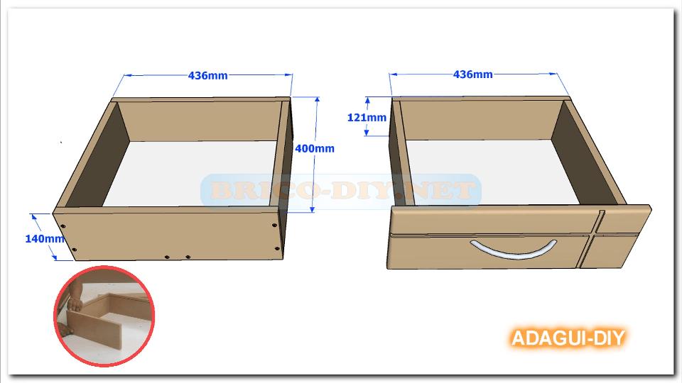 V deo como hacer gavetas y cajones de mdf para muebles - Diseno de muebles de madera ...