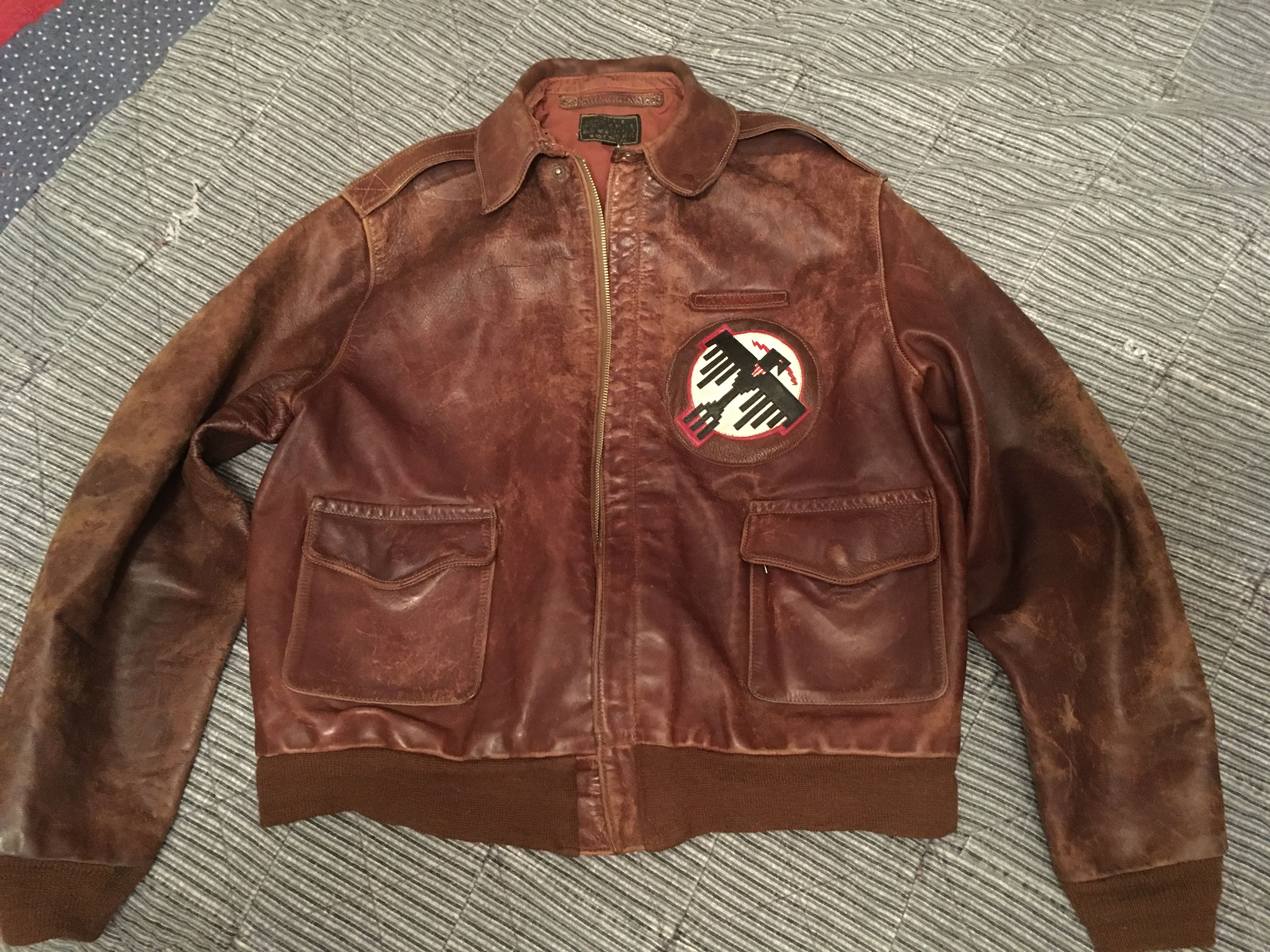 2004 Eastman Rw1401p Leather Flight Jacket Flight Jacket Eastman Leather [ 3024 x 4032 Pixel ]