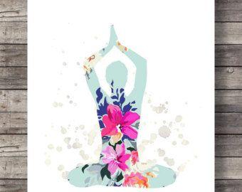 Inhale Exhale Print Yoga Wall Art Wall Prints Inhale by printabold