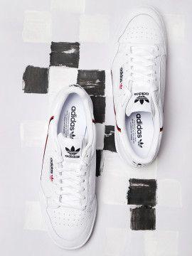 adidas originals men white continental 80 sneakers  best