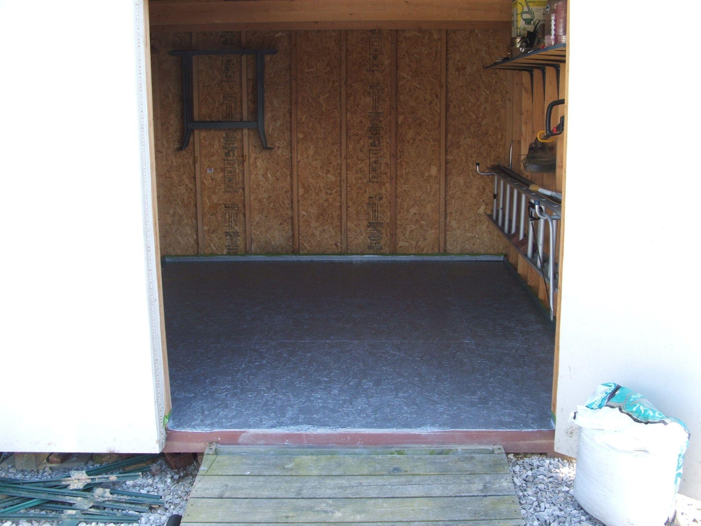 Rust Bullet Flooring In A Shed Garageflooring Garage Floor Tiles Garage Floor Paint Garage Floor Coatings