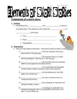 Elements Of Short Stories Short Stories Literary Elements