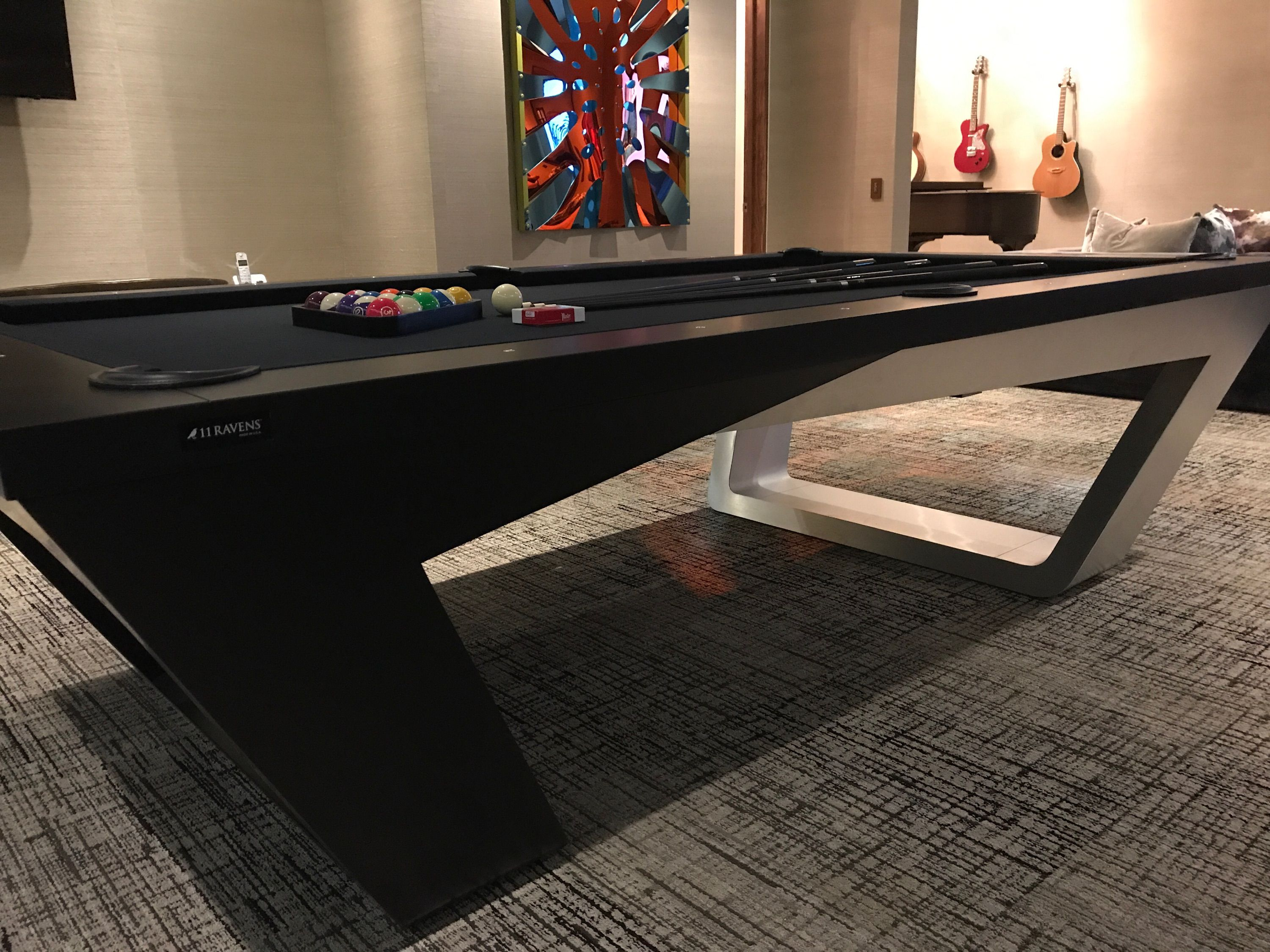 Fluid Lines And Visual Contours Create A Remarkably Uncomplicated Spirit And Aerodynamism In The Avettore A Magnu Modern Pool Table Pool Table Room Pool Table