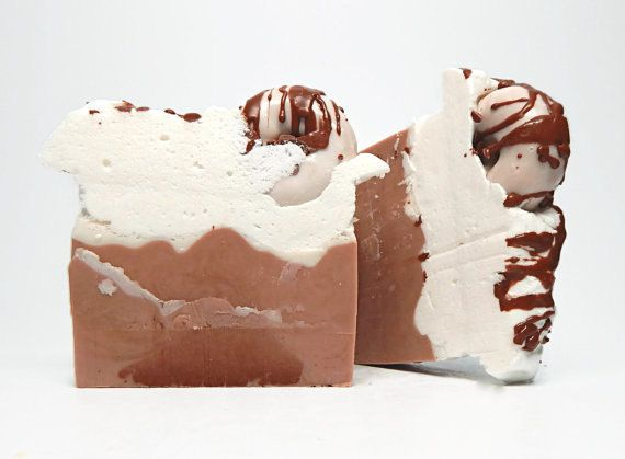Soap Details:    * Size - 5.5 ounces  * Scent with a blend of coffee, vanilla and chocolate fragrances  * topped with soap doughnut  * Made