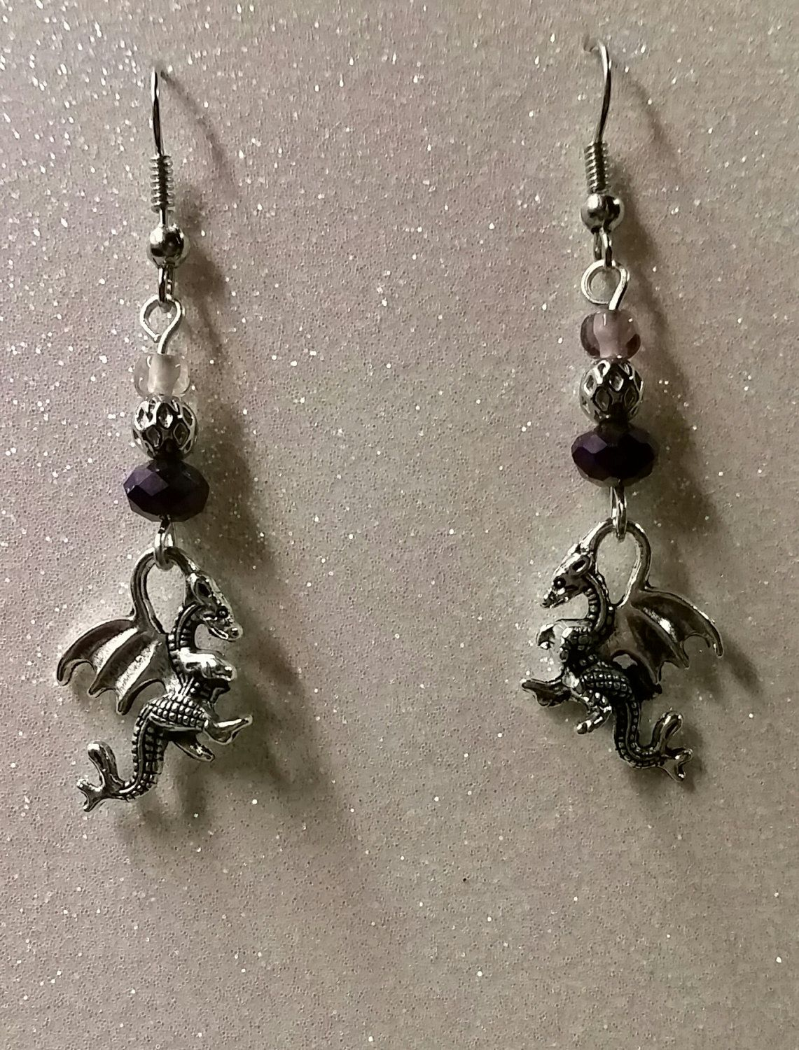 Mini Dragon dangles by BSODesigns on Etsy