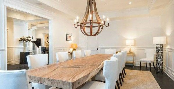 Mix Textures This Thick Live Edge Slab Table Transforms This Space From  Ordinary To Extraordinary. Canalside Interiorsu0027 Protractor And Crank Tablesu2026