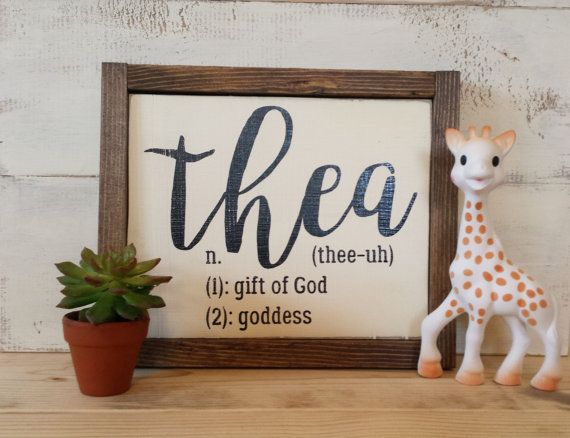 Personalized Rustic Wood Name Sign Baby Name Meaning