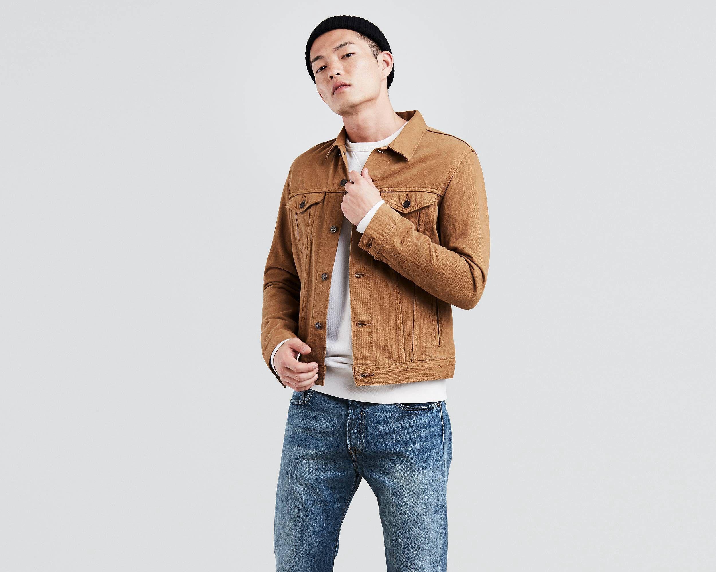 Levi S Trucker Jacket Caraway Xs Denim Jacket Men Jean Jacket Outfits Trucker Jacket [ 2000 x 2500 Pixel ]